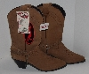 "MBA #2929-0045    "" Womens Dingo Style # 723107 Brown Suede Cowboy Boots"""