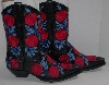 "MBA #2929-121  "" The Manuel Collection Limited Edition Red Rose Embroidered Cowboy Boots"""
