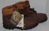 "MBA #2929-0228  "" Wolverine Womens fit Steel Toed Brown Leather Boots"""