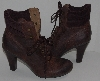 "MBA #2929-240    ""Type Z Brown Distressed Leather Lace Up Boots"""