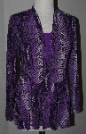 "MBA #2929-306   ""Citiknits Purple Reptile Print Cardigan & Tank Set"""