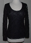 "MBA #2929-299   ""2013 Geneology Long Sleve Black Lace Top"""