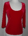 "MBA #2929-296   ""Boston Proper Ruby Red Solid Velvet Reversible Top"""