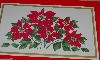 "MBA #3030-262  ""Set Of 4 Wooden Corked Backed  Red Poinsettia Place Mats"""