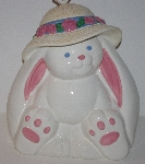 "MBA #3030-427    ""1980's Treasure Craft Large Bunny Ceramic Cookie Jar"""