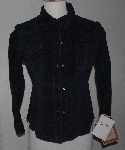 "MBA #2929-266  ""1990's Scully Ladies Black Washable Suede Shirt"""