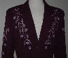 "MBA #3030-0068  ""Manuel Collection Purple Gaberdine Embellished Short Jacket"""