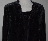 "MBA #3030-294   ""Giltterscape Velvet Embellished Detail Cardigan & Tank Set"""
