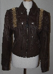 "MBA #3131-712   ""Tribe Chocolate Brown Leather Ladies Warrior Jacket"""