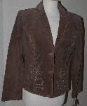 "MBA #3131-627   ""Brandon Thomas Brown Suede Whip Stitch Jacket"""