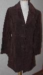 "MBA #3131-799   ""WP Brown Suede Long Jacket"""