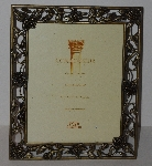 "MBA #3131-559   ""Connoisseur Cast Brass Rose Vine 8x10 Picture Frame"""