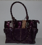 "MBA #3232-148   ""Madi Claire ""Scarlet"" Croco Embossed Leather Double Handled Large Tote Bag With Matching Coin Purse"""