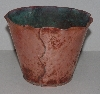 "MBA #3131-0092  """"Vintage Artistic Manufactures Solid Copper Flower Pot"""