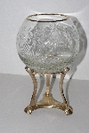"MBA #3131-0187  ""Brass & Glass Candle Holder/Vase"""