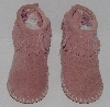 "MBA #3131-268  ""Little Girls Pink Suede Minnetonka Moccasins"""