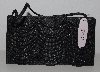 "MBA #3232- 0032   "" 2004  Victoria's Secret Small Black Beaded Make Up Bag"""