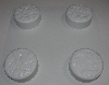 "MBA #3333-477   "" Set Of 3 White Plastic 4 Part Leaf Soap Molds"""