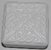 "MBA #3333-511   ""Set Of 2 Square 4 Part Celtic Knot White Plastic Soap Molds"""