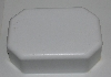 "MBA #3333-516  ""Set Of 3 Rectangle Shaped 4 Part White Plastic Soap Molds"""