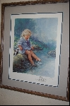 "**MBA #8-022   "" Rare From The 1980's ""Anna"" A Custom Framed Lithograph Artist Proof  By Artist Sue Etem"