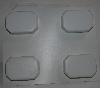 "MBA #3333-516   ""Set Of 2 Fancy Rectangle 4 Part White Plastic Soap Molds"""