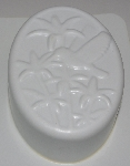 "MBA #3333-569   ""Set Of 2 Oval Hummingbird White Plastic Soap Molds"""