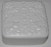 "MBA #3333-575  ""Set Of 2 Fancy Square 4 Part White Plastic Soap Molds"