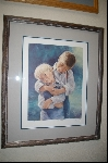 "**MBA #8-035  "" Rare 1987 ""The Boys"" Lithograph By Artist Sue Etem Custom Framed"