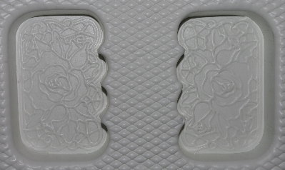 "+MBA #3333-619   ""Soap Saloon Set Of 3 Fancy Rose 4 Part Soap Molds"""