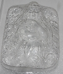 "MBA #3333-641   ""Set Of 2 Angel With Arms Crossed 3D Heavy Duty Clear Plastic Soap Molds"""