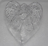 "MBA #3333-666  ""Set Of 3 Angel Heart 3D Heavy Duty Clear Plastic Soap Molds"""
