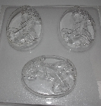 "MBA #3333-295   ""Set Of 3 Sitting Woman 3D Heavy Duty Plastic Soap Molds"""