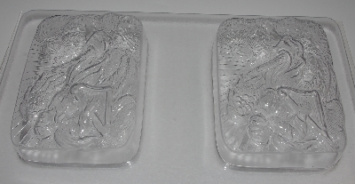 "+MBA #3333-329  ""Set Of 2 Angel With Harp 3D Heavy Duty Plastic Soap Molds"""