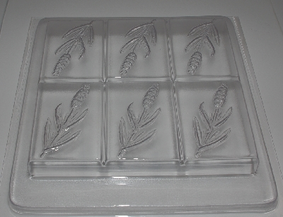 "+MBA #3333-0333   ""Set Of (3) Lavender 6 Cavity Heavy Duty Soap Mold"""