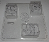 "MBA #3333-369  ""Mold Market Set Of 2 Fancy Cowboy Boots Soap Molds"""