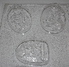"MBA #3333-395   ""Set Of 2 Bathing Women Clear Plastic Soap Molds"""