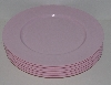 "*MBA #3333-211    ""Reston Lloyd Set Of 6  Pink Calypso Basics 11"" Melamine Dinner Plates"""