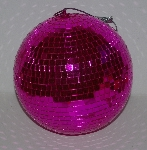 "MBA #3333-182   ""Wrapables 2007 Hot Pink 10"" Mirror Disco Ball Ornament"""