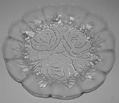 "MBA 3333-0001  ""1980's Set Of 6  Pasari Glass Liva  Rose Embossed Salad Bowls"""