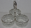 "MBA #3333-044   ""1983 #9599 Genuine Silver Plated Triple Server"""