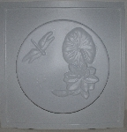 "MBA #3333-071   ""1997 Mud Art Molds Set Of 3 Water Lilly & Dragonfly Stepping Stone Molds"""