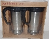 "MBA #3434-367   ""1999 Liquid Solution Set Of 2 Travel Mugs 20 Ounce"""