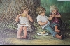 "**MBA #8-260  ""Rare 1984 ""PICNICKIN"" Limited Edition Hand Signed & Numbered Lithograpy By Artist Sue Etem Comes Custom Framed"