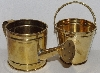 "MBA #3434-0138   ""Set Of 2 Mini Brass Water Can & Bucket"""