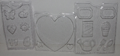 """SOLD""  MBA #3434-201   ""1995 Plaid Set Of 7 Faster Plaster Molds"""