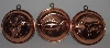 "MBA #3434-641   "" 1980's Set Of 3 Copper Molds"""