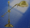 "MBA #3535-441   ""2002 Hampton Bay Adjustable Polished Brass Desk Lamp"""