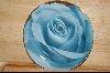 **MBA #4-117  Set Of 4 Porceline Blue Rose Desert Plates