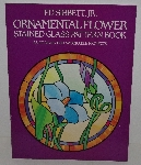 "MBA #3535-190   ""1984 Ed Sibbett Jr Ornamental Flower Stained Glass Pattern Book"""